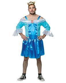 Disfraz de princesa azul para hombre