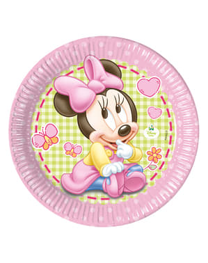 8 platos Minnie Mouse (23cm) - Baby Minnie