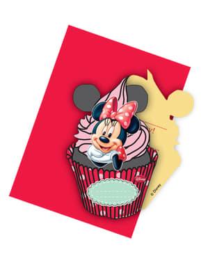 6 invitations Minnie Café