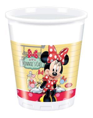 8 vasos Minnie Café