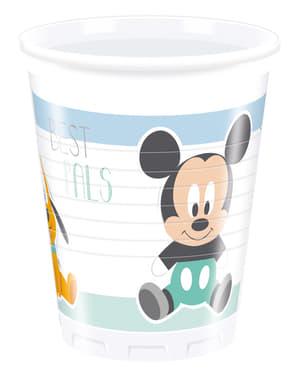 Set 8 bekertjes baby Mickey