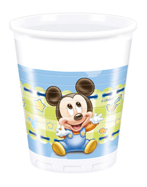 8 copos Baby Mickey - Baby Mickey