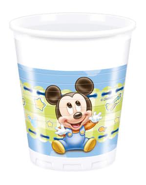 Sada 8 plastových pohárov Baby Mickey