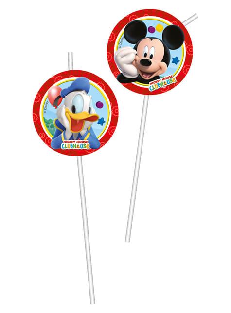 6 pajitas Mickey Mouse - Clubhouse