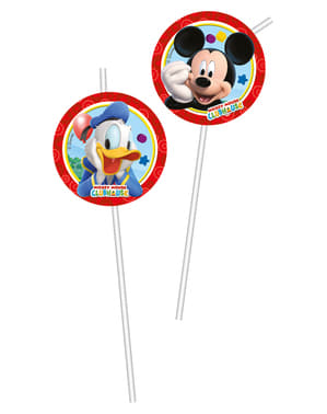 6 Playful Mickey Straws - Clubhouse