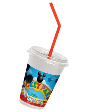 12 Playful Mickey Cups and Straws - Clubhouse