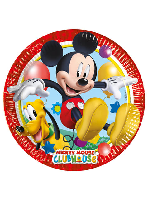 8 platos Mickey (23cm) Mickey Mouse - Clubhouse