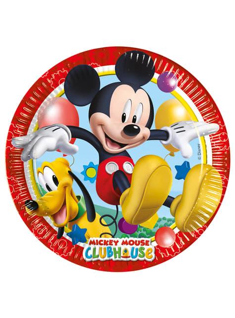8 játékos Mickey 23cm-es lemez