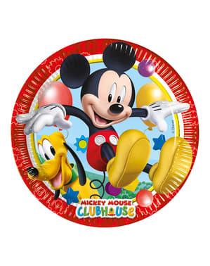 8 farfurii Mickey (23 cm) - Clubhouse