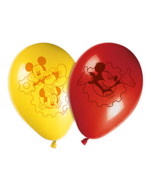 8 Playful Mickey Balloons (30 cm) - Clubhouse