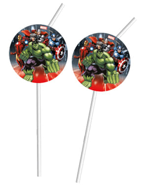 Set of 6 The Avengers Power Straws