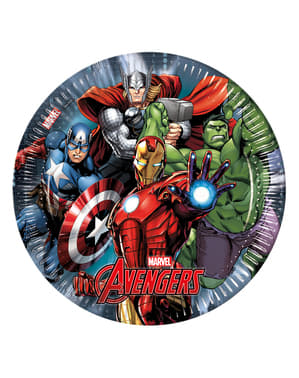 Set of 8 The Avengers Power 23cm Plates