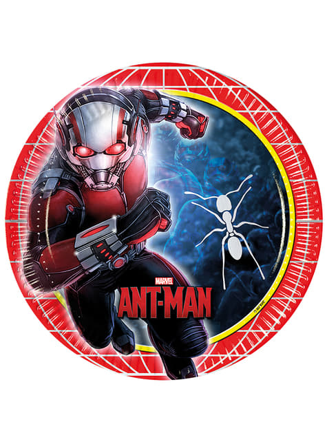 Set de 8 platos Ant Man de 23 cm