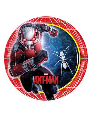 8 assiettes Ant-Man de 23 cm