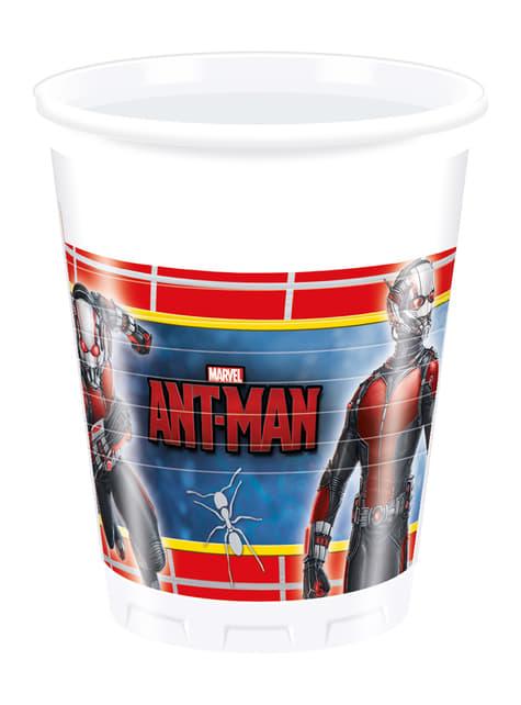 Set de 8 vasos Ant Man