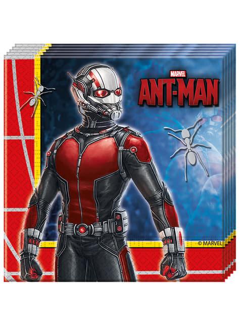 Set de 20 servilletas Ant Man
