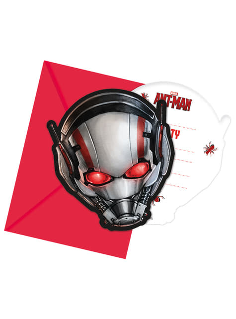 Set de 6 invitaciones Ant Man