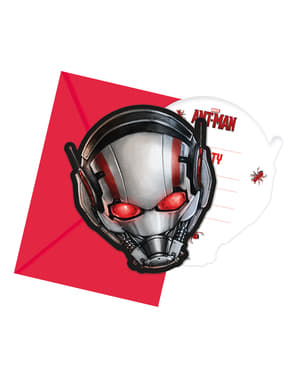6 Ant Man Invitations