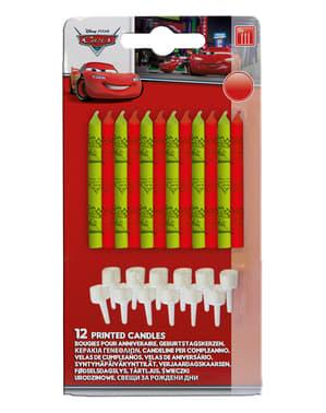 Set 12 Lilin dan Pangkalan Mobil Neon