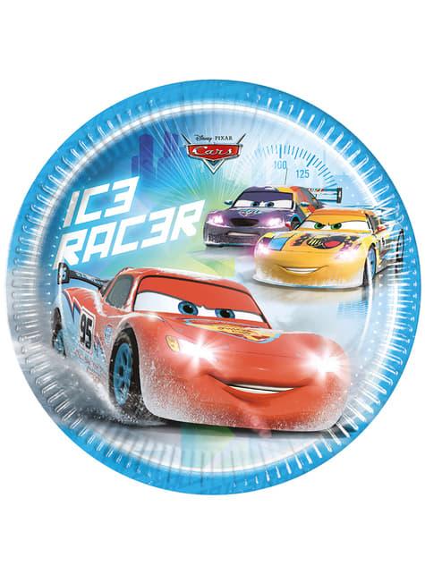 Set de 8 platos Cars Ice de 23 cm