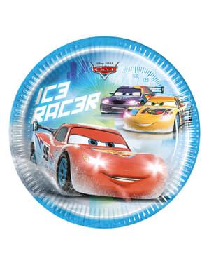 8 assiettes Cars Ice de 23 cm