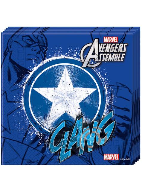 20 servilletas Los Vengadores Teen Capitán América (33x33cm) - Avengers Team