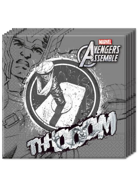 20 servilletas Los Vengadores Teen Thor (33x33cm) - Avengers Team