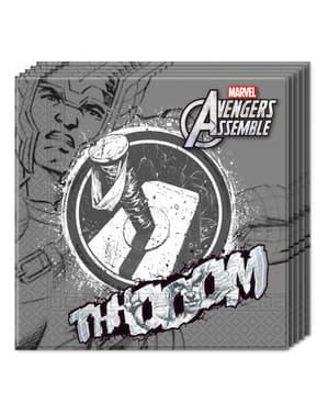20 kpl pakkaus Harmaita Teen Avengers -lautasliinoja