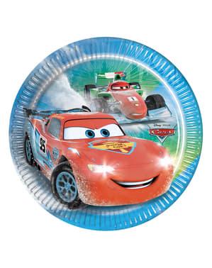 Zestaw 8 talerzy Cars Ice 20 cm