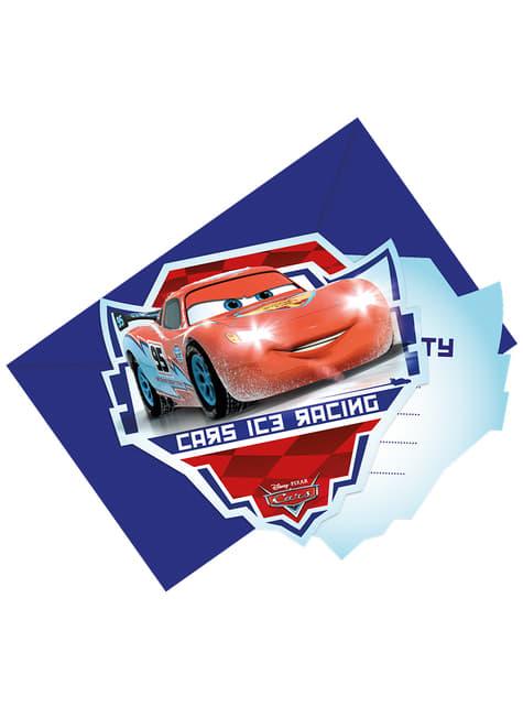 Set de 6 invitaciones Cars Ice