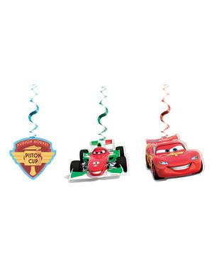 Biler Ice sæt med 3 pynt