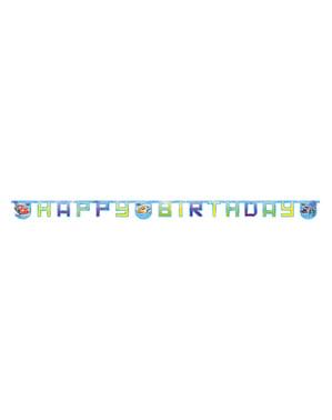 Autá Ice Happy Birthday Banner