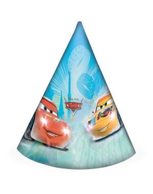6 gorritos de cumpleaños Cars Ice