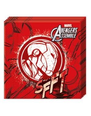 20 servilletas Los Vengadores Teen Iron Man (33x33cm) - Avengers Team