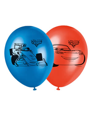 8 balões Carros Néon (30 cm)