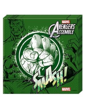 20 servilletas Los Vengadores Teen Hulk (33x33cm) - Avengers Team