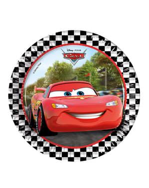 8 platos Cars Formula de 20 cm