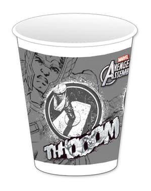 8 kpl Harmaita Teen Avengers -mukeja
