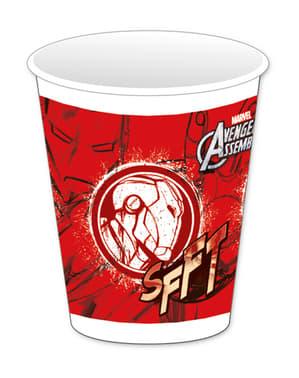 8 vasos Los Vengadores Teen Iron Man - Avengers Team