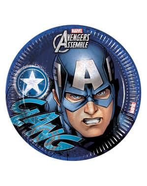 8 pratos Os Vingadores Teen (23cm) - Avengers Team