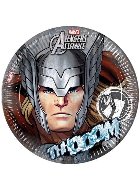 8 platos Thor Los Vengadores Teen (23cm) - Avengers Team