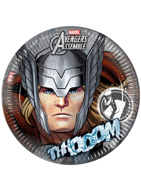 Set of 8 Thor Teen Avengers 23cm Plates