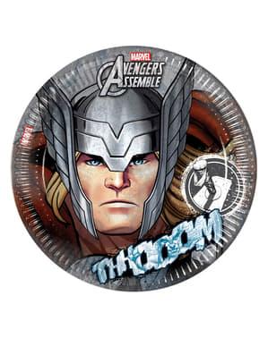 Zestaw 8 talerzy Thor The Avengers Teen 23 cm