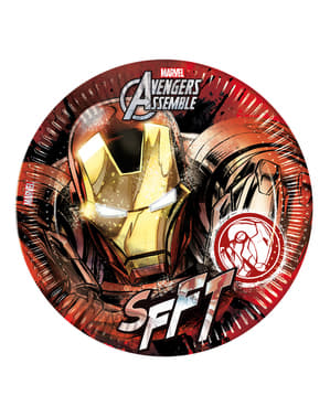 Sett med 8 Iron Man Teen Avengers 23cm Tallerken