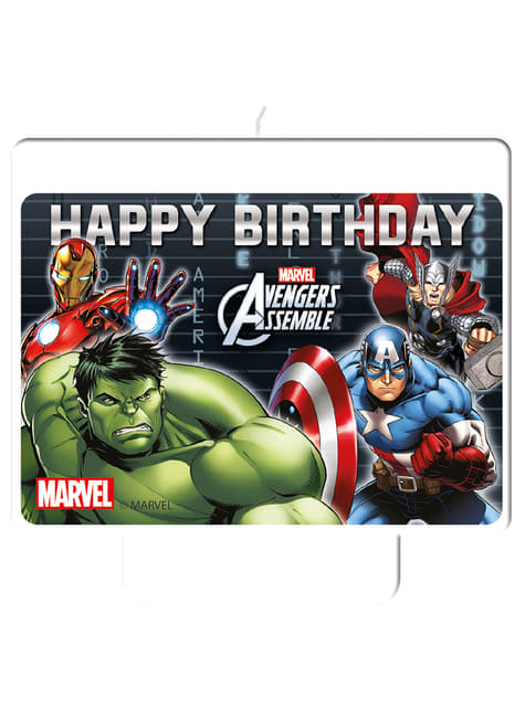 The Avengers Power Happy Birthday Candle - Mighty Avengers