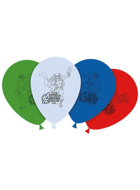8 globos Los Vengadores (30cm) - Mighty Avengers