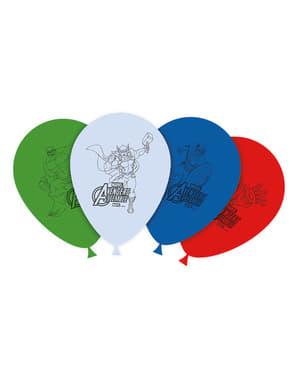 Sett med 8 The Avengers Tøffe Ballonger