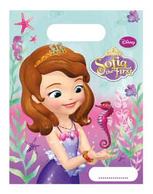 6 uitdeelzakjes Prinses Sofia