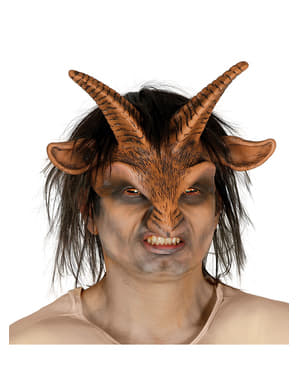 Adult's Faun Mask with Hair