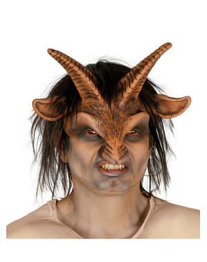 Mask Faunus med hår för vuxen